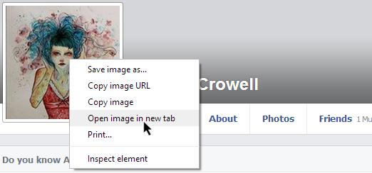 facebook private profile picture - step1