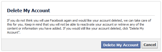how to delete facebook account - Facebook Tricks and tips