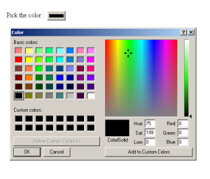 Color picker - html 5